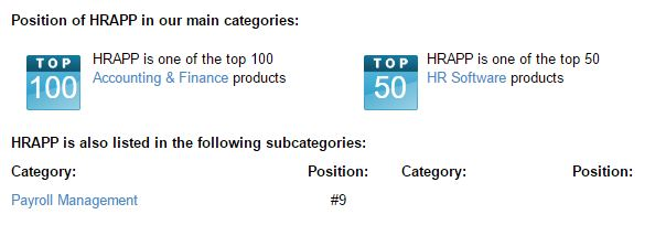 HRAPP top 10 payroll software