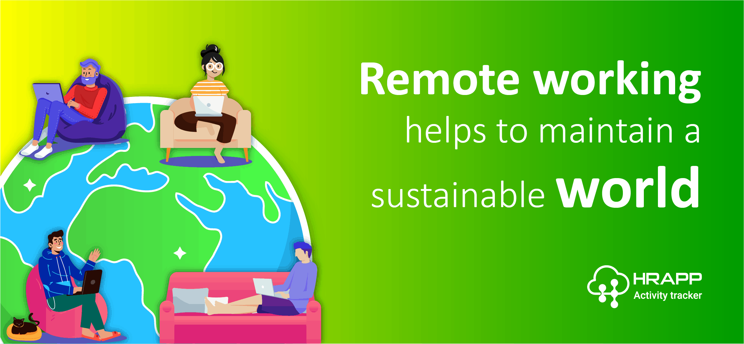 Remote Working helps to maintain a sustainable world
