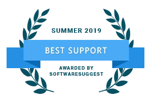 Best Support Award from Software Suggest