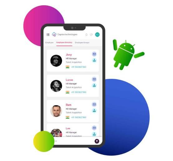 screenshot of hrapp software in mobile app