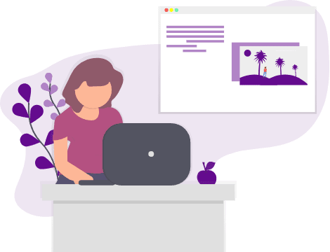 image of lady working from home and being monitored by employee monitoring software